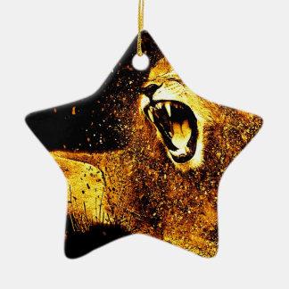 Ornamento De Cerâmica Cabeça predadora dos homens do gato da pele do