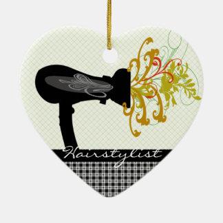 Ornamento De Cerâmica Cabeleireiro de sopro das flores do secador de