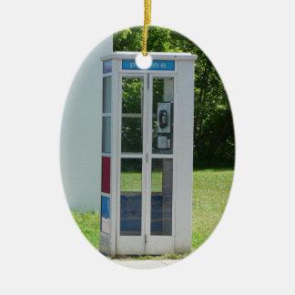 Ornamento De Cerâmica Cabine de telefone