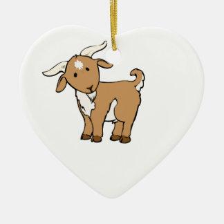 Ornamento De Cerâmica cabra marrom bonito