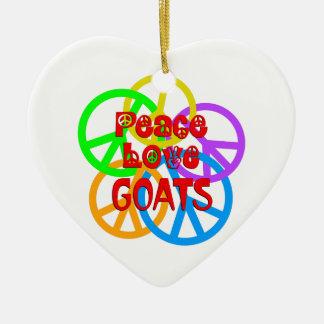 Ornamento De Cerâmica Cabras do amor da paz