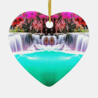 Ornamento De Cerâmica Cachoeira psicadélico