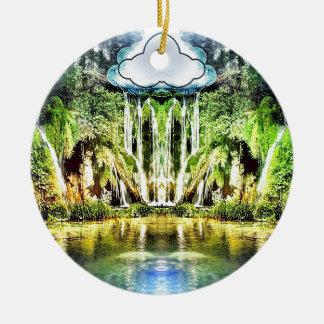 Ornamento De Cerâmica Cachoeiras da nuvem