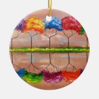 Ornamento De Cerâmica Cada árvore por seu cheiro
