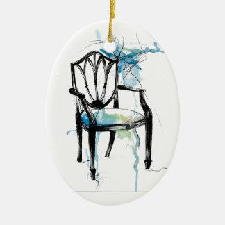 Ornamento De Cerâmica Cadeira de Hepplewhite - aguarela
