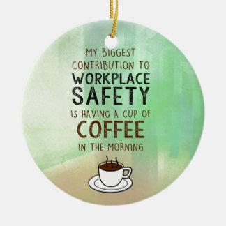 Ornamento De Cerâmica Café - contribuição para a segurança do local de