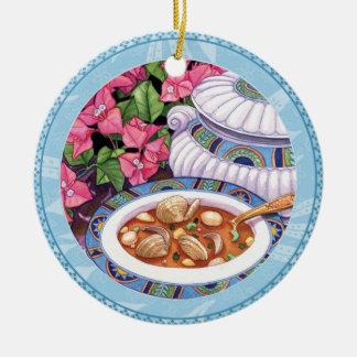Ornamento De Cerâmica Café da ilha - a sopa é servida