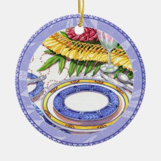 Ornamento De Cerâmica Café da ilha - ajuste de lugar dos leus do