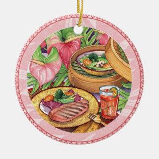 Ornamento De Cerâmica Café da ilha - navio a vapor de bambu