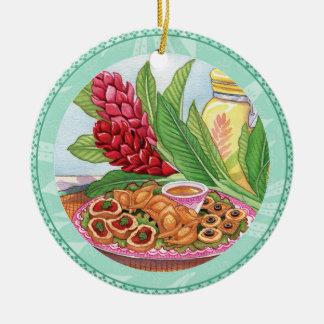 Ornamento De Cerâmica Café da ilha - partido Pupus