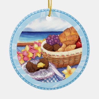 Ornamento De Cerâmica Café da ilha - pequeno almoço Lanai