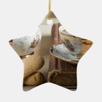 Ornamento De Cerâmica Café da manhã e savoiardi dos biscoitos