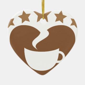 Ornamento De Cerâmica Café do amor