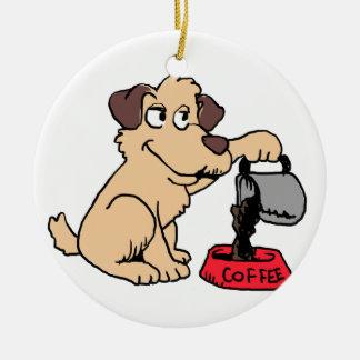Ornamento De Cerâmica Café do serviço do cão