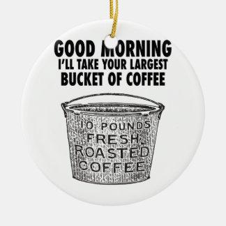 Ornamento De Cerâmica Café pelo balde