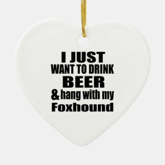 Ornamento De Cerâmica Cair com meu Foxhound