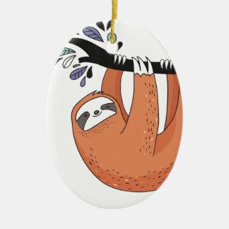 Ornamento De Cerâmica Cair da preguiça dentro lá