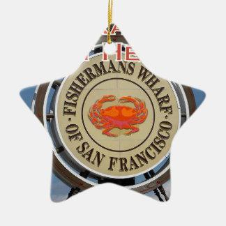Ornamento De Cerâmica Cais San Francisco Califórnia EUA CA de Fishermans