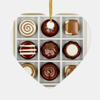 Ornamento De Cerâmica Caixa com doces de chocolate