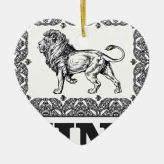 Ornamento De Cerâmica caixa do leão do rei