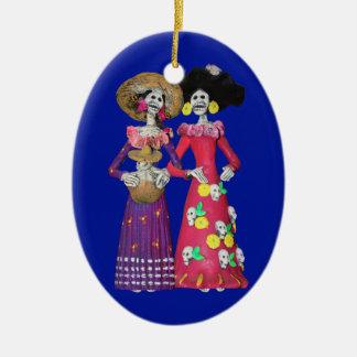 Ornamento De Cerâmica Calavera Amigas