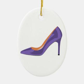 Ornamento De Cerâmica Calçados do salto alto no ultravioleta