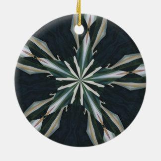 Ornamento De Cerâmica Caleidoscópio da estrela do lírio de Calla