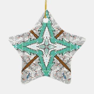 Ornamento De Cerâmica Caleidoscópio de árvores do inverno