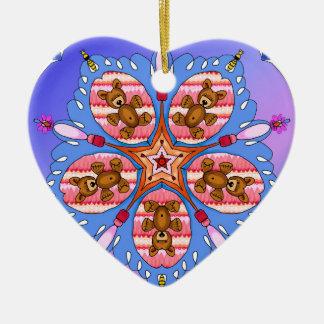 Ornamento De Cerâmica Caleidoscópio dos ursos e das abelhas
