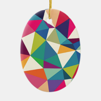 Ornamento De Cerâmica Caleidoscópio geométrico colorido