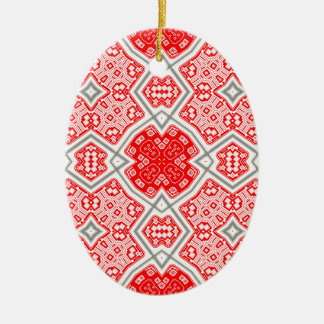 Ornamento De Cerâmica Caleidoscópio vermelho