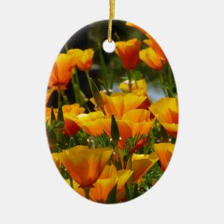 Ornamento De Cerâmica Califórnia alaranjada Poppies_3.1
