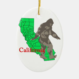 Ornamento De Cerâmica Califórnia bigfoot