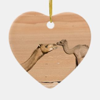 Ornamento De Cerâmica Camelo do bebê e sua mãe