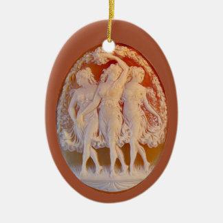 Ornamento De Cerâmica Cameo