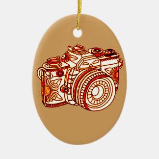 Ornamento De Cerâmica Câmera