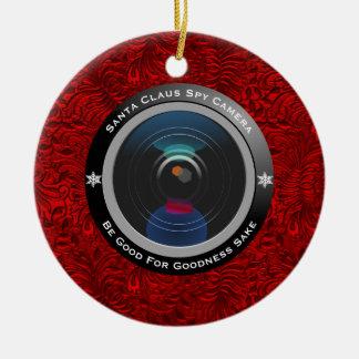 Ornamento De Cerâmica Câmera do espião de Papai Noel