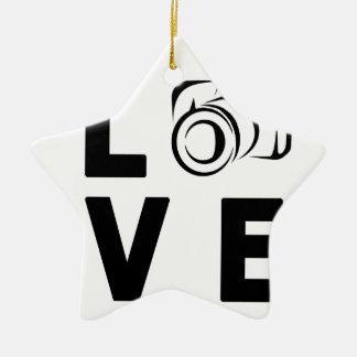Ornamento De Cerâmica câmera e amor