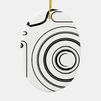 Ornamento De Cerâmica Câmera preto e branco