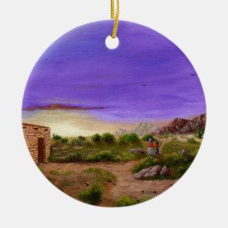 Ornamento De Cerâmica Caminhada do deserto