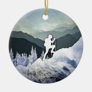 Ornamento De Cerâmica Caminhada do inverno