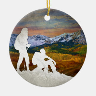 Ornamento De Cerâmica Caminhada do outono