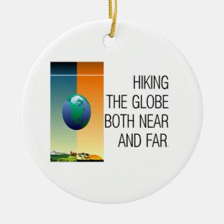 Ornamento De Cerâmica Caminhada SUPERIOR o globo