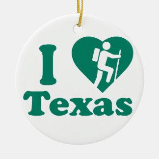 Ornamento De Cerâmica Caminhada Texas
