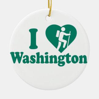 Ornamento De Cerâmica Caminhada Washington