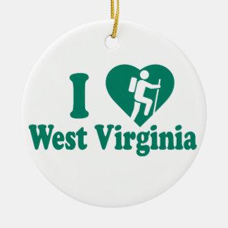 Ornamento De Cerâmica Caminhada West Virginia
