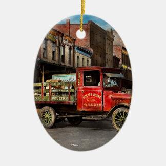 Ornamento De Cerâmica Caminhão - aves domésticas vestidas Home 1926
