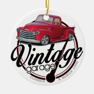 Ornamento De Cerâmica Caminhão da garagem do vintage