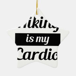 Ornamento De Cerâmica Caminhar é meu cardio-