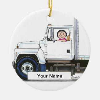 Ornamento De Cerâmica Camionista - fêmea